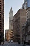 Torre de reloj de aduanas en Boston, Massachusetts imágenes de archivo libres de regalías