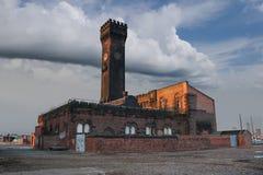 Torre de reloj de Birkenhead Imagenes de archivo