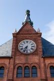 Torre de reloj central del terminal de ferrocarril Imagen de archivo libre de regalías