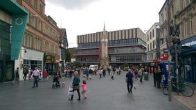 Torre de reloj conmemorativa de Haymarket - Leicester Inglaterra Fotos de archivo libres de regalías
