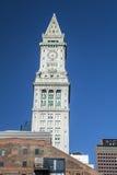 Torre de reloj de aduanas Imágenes de archivo libres de regalías