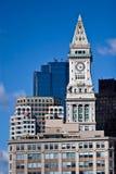Torre de reloj de aduanas de Boston Imágenes de archivo libres de regalías