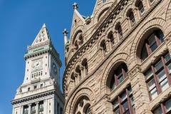 Torre de reloj de aduanas en Boston, Massachusetts Imagen de archivo