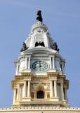 Torre de reloj de ayuntamiento de Philadelphia Foto de archivo
