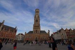 Torre de reloj de Brujas Fotos de archivo libres de regalías