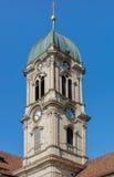 Torre de reloj de la abadía de Einsiedeln Imágenes de archivo libres de regalías