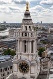 Torre de reloj de la catedral de Saint Paul Londres Inglaterra Imagen de archivo