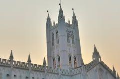 Torre de reloj de la catedral de San Pablo en Calcutta Foto de archivo libre de regalías