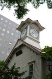 Torre de reloj de la ciudad de Sapporo, en Japón Imagenes de archivo