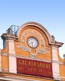 Torre de reloj de la High School secundaria de Galatasaray Imágenes de archivo libres de regalías