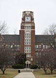 Torre de reloj de la tecnología del carril Imagen de archivo libre de regalías