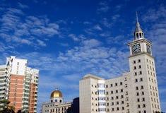 Torre de reloj de las aduanas situada en Haikou, China Foto de archivo