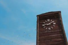 Torre de reloj de madera Fotos de archivo