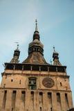 Torre de reloj de Medival Imagen de archivo libre de regalías