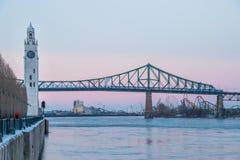 Torre de reloj de Montreal y Jacques Fotos de archivo libres de regalías