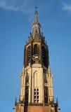 Torre de reloj de Nieuwe Kerk Imagen de archivo libre de regalías