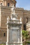 Torre de reloj de Palermo Cathedral Fotografía de archivo libre de regalías