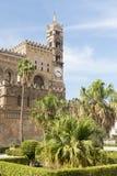 Torre de reloj de Palermo Cathedral Fotos de archivo