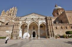 Torre de reloj de Palermo Cathedral Imágenes de archivo libres de regalías