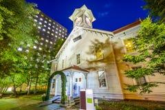 Torre de reloj de Sapporo imagen de archivo