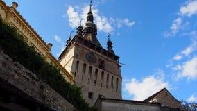 Torre de reloj de Sighisoara Fotografía de archivo libre de regalías