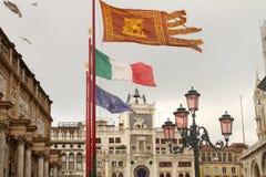 Torre de reloj de Venecia Fotografía de archivo