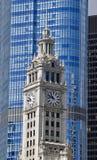 Torre de reloj de Wrigley Fotografía de archivo