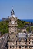 Torre de reloj del Balmoral, Edimburgo imagen de archivo libre de regalías