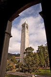 Torre de reloj del campanil en Uc Berkeley Fotografía de archivo libre de regalías