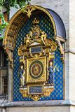 Torre de reloj del castillo de Conciergerie París, Francia Fotos de archivo