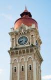 Torre de reloj del edificio de Sultan Abdul Samad cerca del cuadrado de Mederka Foto de archivo