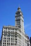 Torre de reloj del edificio de Wrigley Imagen de archivo