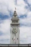 Torre de reloj del edificio del transbordador de San Francisco imagenes de archivo