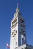 Torre de reloj del edificio del transbordador de San Francisco Imágenes de archivo libres de regalías