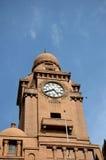 Torre de reloj del edificio Historic Karachi Municipal Corporation Paquistán Imagen de archivo