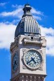 Torre de reloj del ferrocarril del Gare de Lyon París, Francia Fotografía de archivo libre de regalías