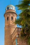 Torre de reloj del palacio Laredo en el ¡de Henares de Alcalà Fotografía de archivo
