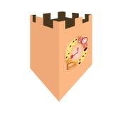 Torre de reloj del pan Stock de ilustración