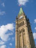 Torre de reloj del parlamento de Ottawa Foto de archivo libre de regalías