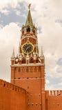 Torre de reloj del salvador en el Kremlin Imagen de archivo