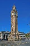 Torre de reloj en Belfast Fotografía de archivo