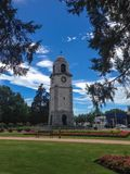 Torre de reloj en Blenheim en la isla del sur de Nueva Zelanda imagen de archivo libre de regalías