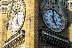 Torre de reloj en Bombay la India Imagen de archivo libre de regalías
