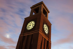 Torre de reloj en Chicago Imagen de archivo