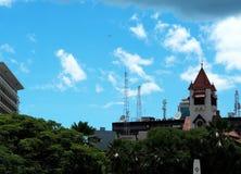 Torre de reloj en Dar es Salaam Imagenes de archivo