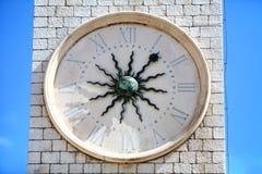 Torre de reloj en Dubrovnik Fotografía de archivo libre de regalías