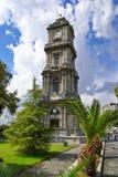 Torre de reloj en el palacio de Dolma Bahche Imagenes de archivo
