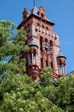 Torre de reloj en el palacio de justicia en Waxahachie, Tejas Fotos de archivo libres de regalías