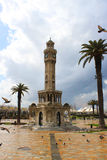 Torre de reloj en el squere de Konak Fotografía de archivo