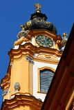 Torre de reloj en la abadía de Melk, verano de Alemania 2011 Fotografía de archivo libre de regalías